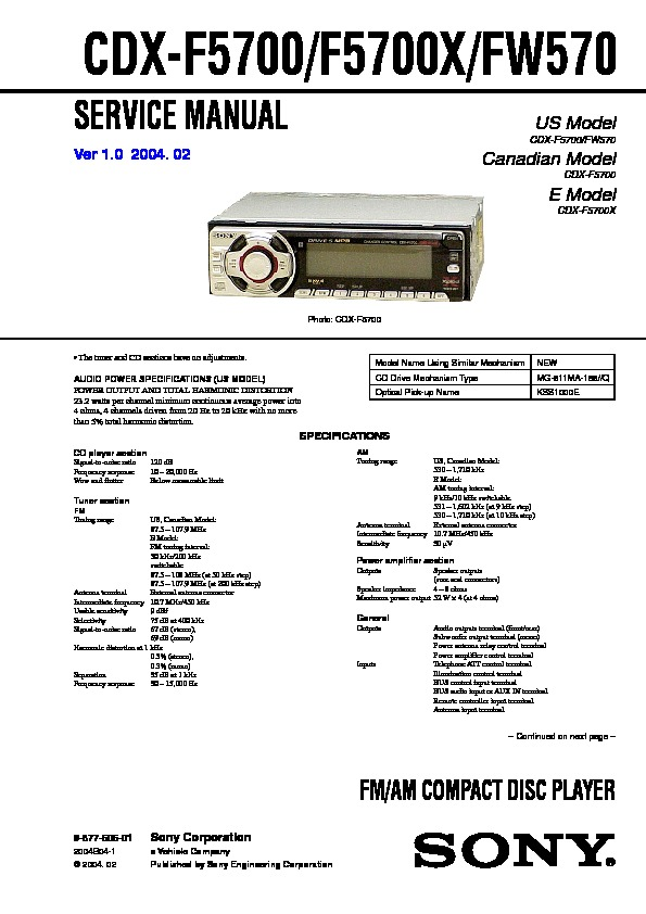 987760501 sony cdx fw570 wiring diagram sony wiring diagrams collection  at gsmx.co
