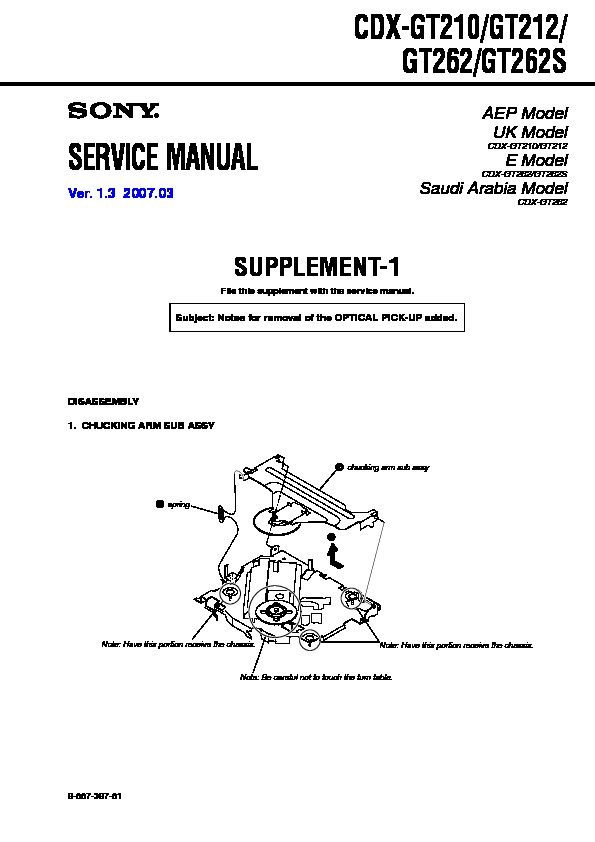sony cdx gt210 wiring diagram 3 phase australia cdx-gt210, cdx-gt212, cdx-gt262, cdx-gt262s service manual - free download