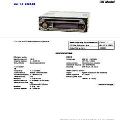 Sony Cdx Gt25 Wiring Diagram Skoda Octavia Towbar Car Audio Service Manuals Page 11 Gt310 Manual