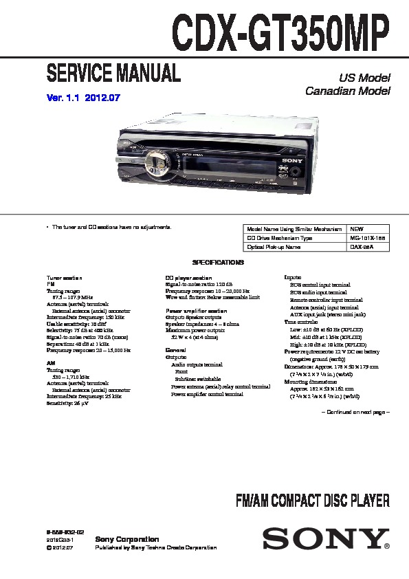 988993202 sony cdx gt350mp wiring diagram sony cdx gt300 wiring diagram at gsmx.co
