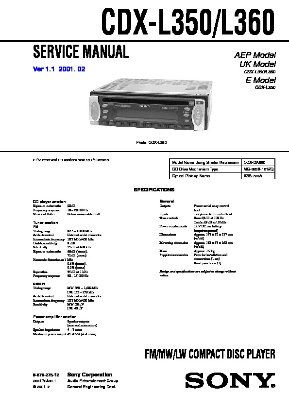 987027812 sony cdx l350 wiring diagram sony cdx l350 wiring diagram at aneh.co