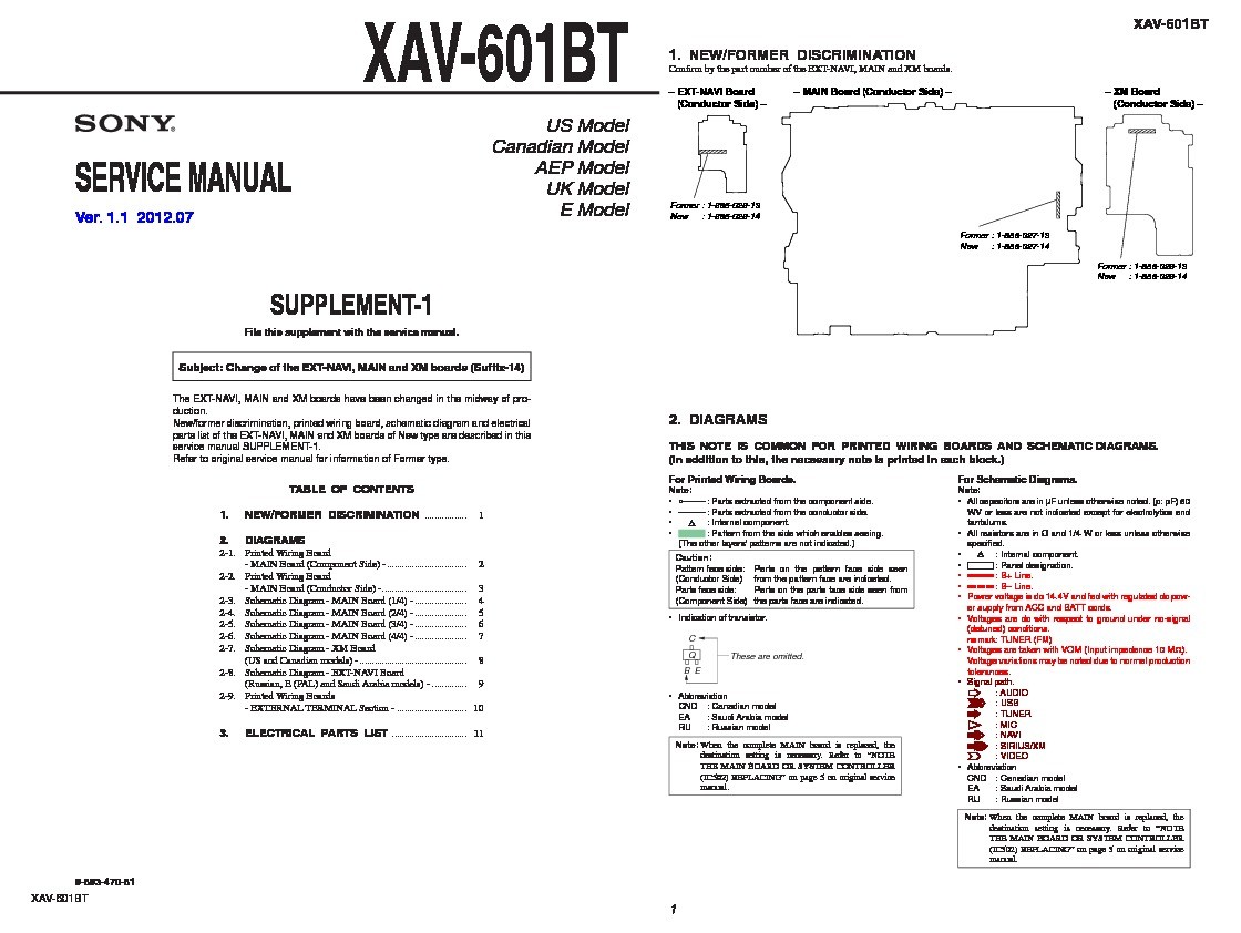 hight resolution of xav 601bt serv man2 service manual