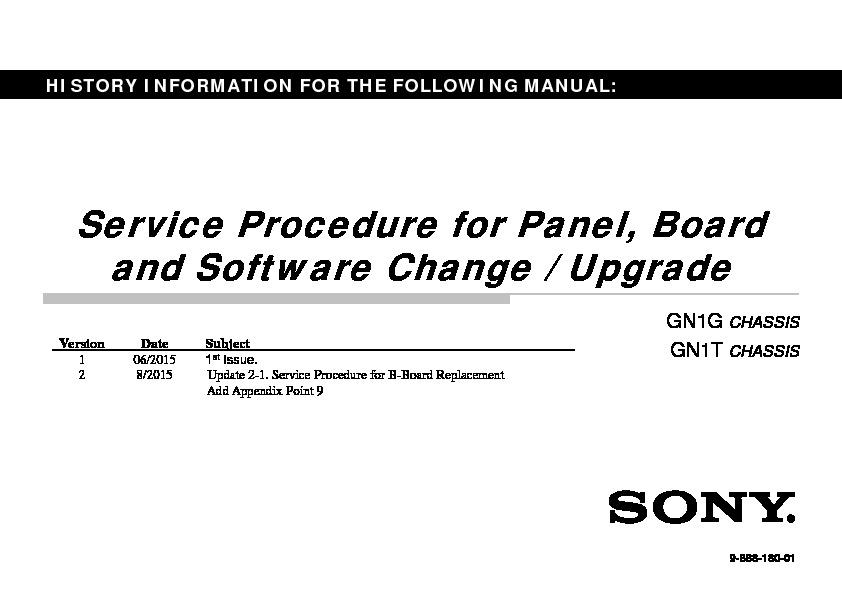 Sony KD-43X8301C, KD-43X8305C, KD-43X8307C, KD-43X8308C
