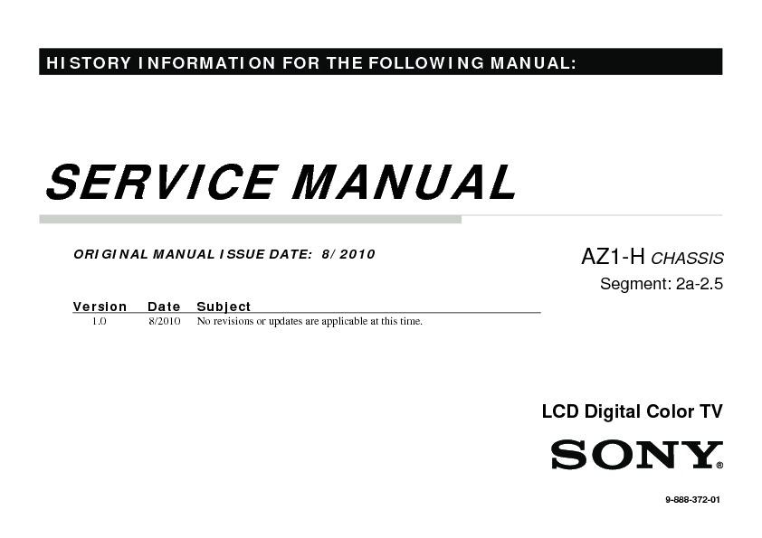 Sony KDL-40NX710, KDL-40NX713, KDL-40NX715, KDL-46NX710