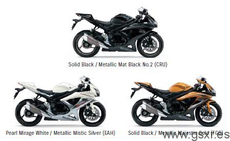 Revelados los nuevos colores para las Suzuki GSXR 750 2009