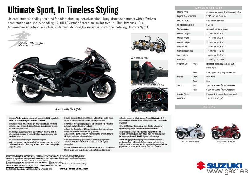 Catálogos con novedades de las motos Suzuki GSX-R 2012