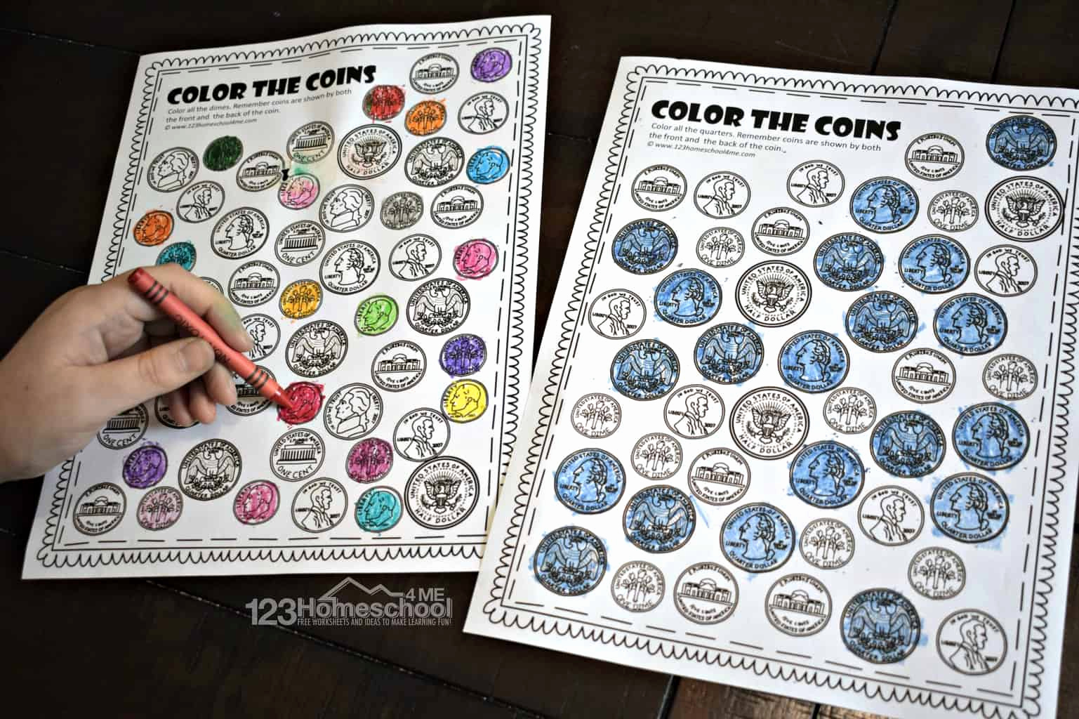 Match Coin Worksheet Dor Kindergarten Servicenumber