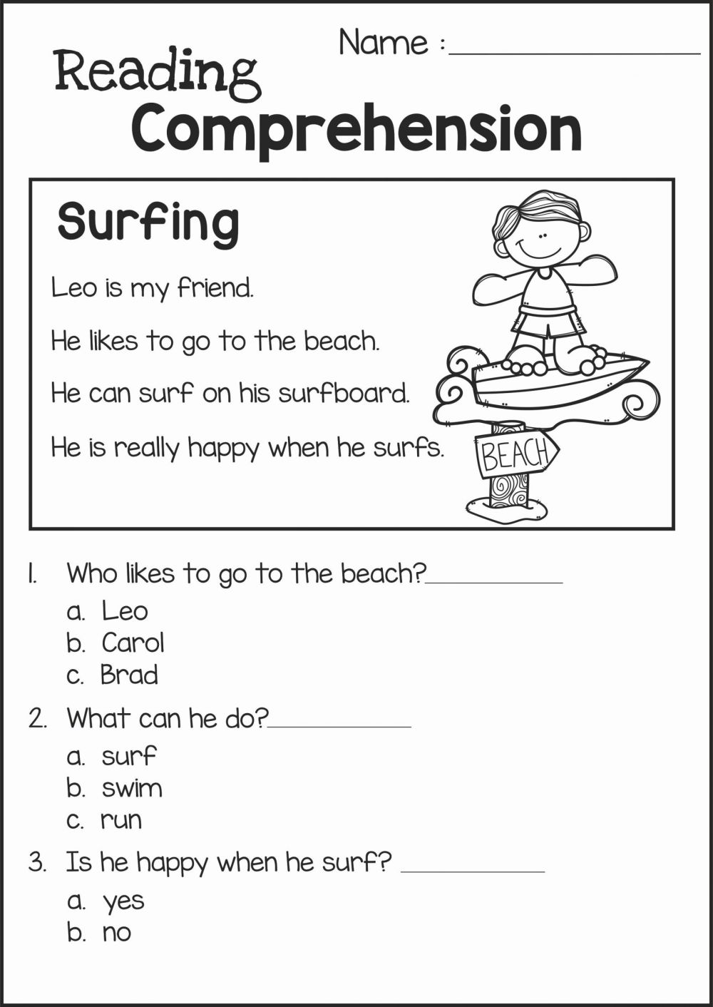 medium resolution of Reading Worksheet for Kindergarten 2 – Servicenumber.org