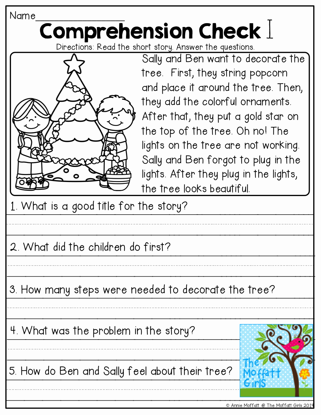 hight resolution of Christmas Reading Worksheets 2nd Grade – Servicenumber.org