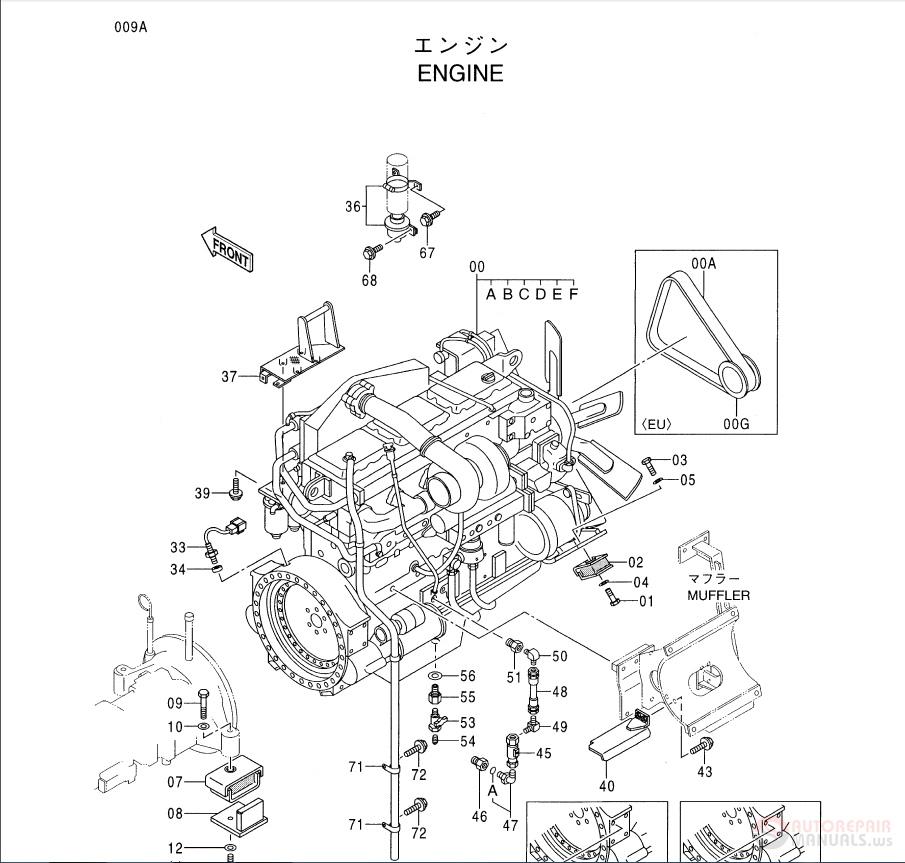 Hitachi EX750-5 EX800H-5 Excavator PI7C-I-3 Parts Catalog
