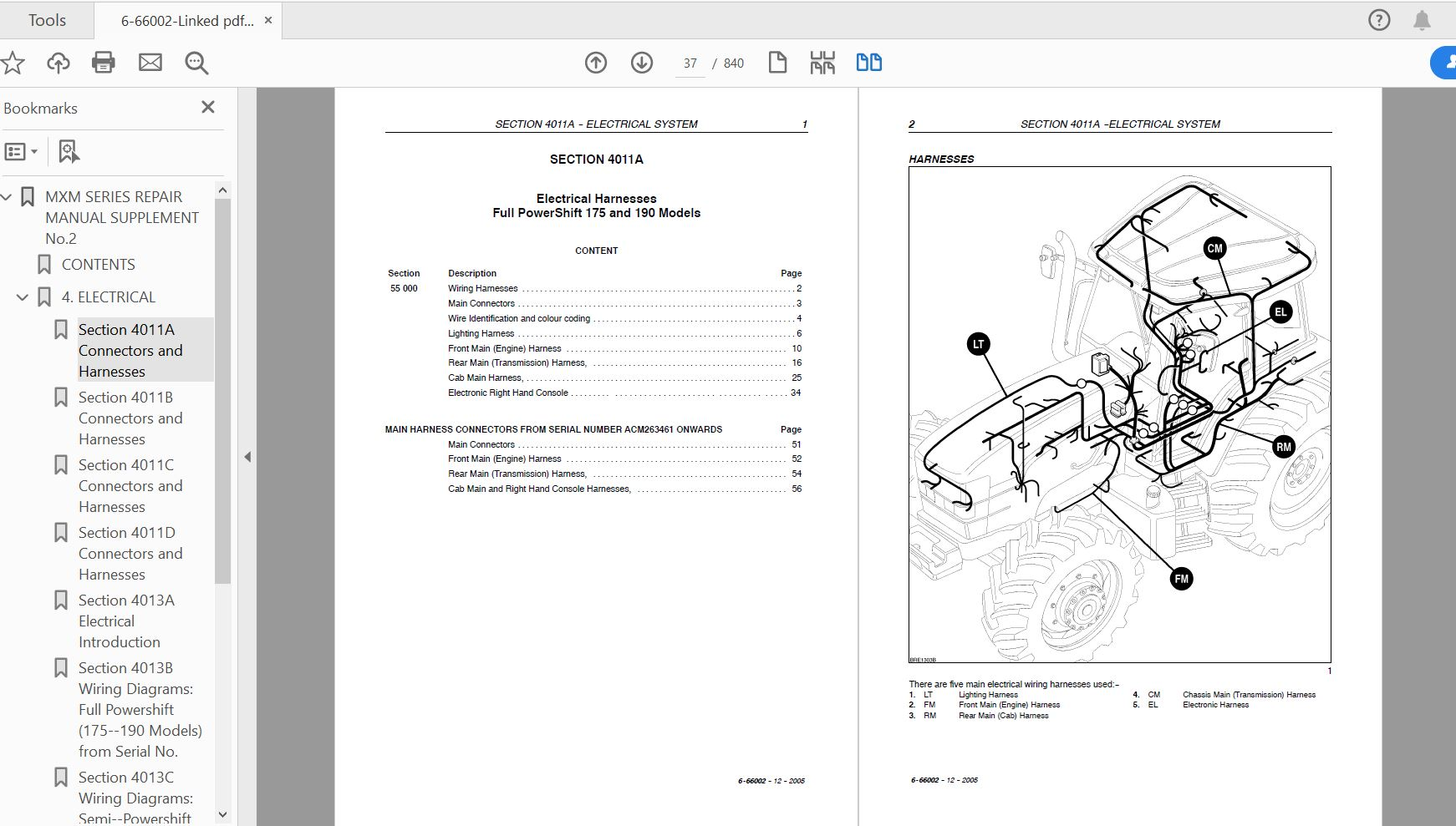 Case IH Tractor MXM 120-190 supplement Service Manual_6