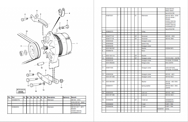 VOLVO BM L160 WHEEL LOADER Parts Manual_New Update 2020