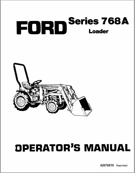New Holland Ford 768A Loader for Series 1000 Tractor
