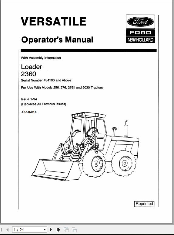 New Holland Ford Tractor 8630, 8730, 8830 Service Manual