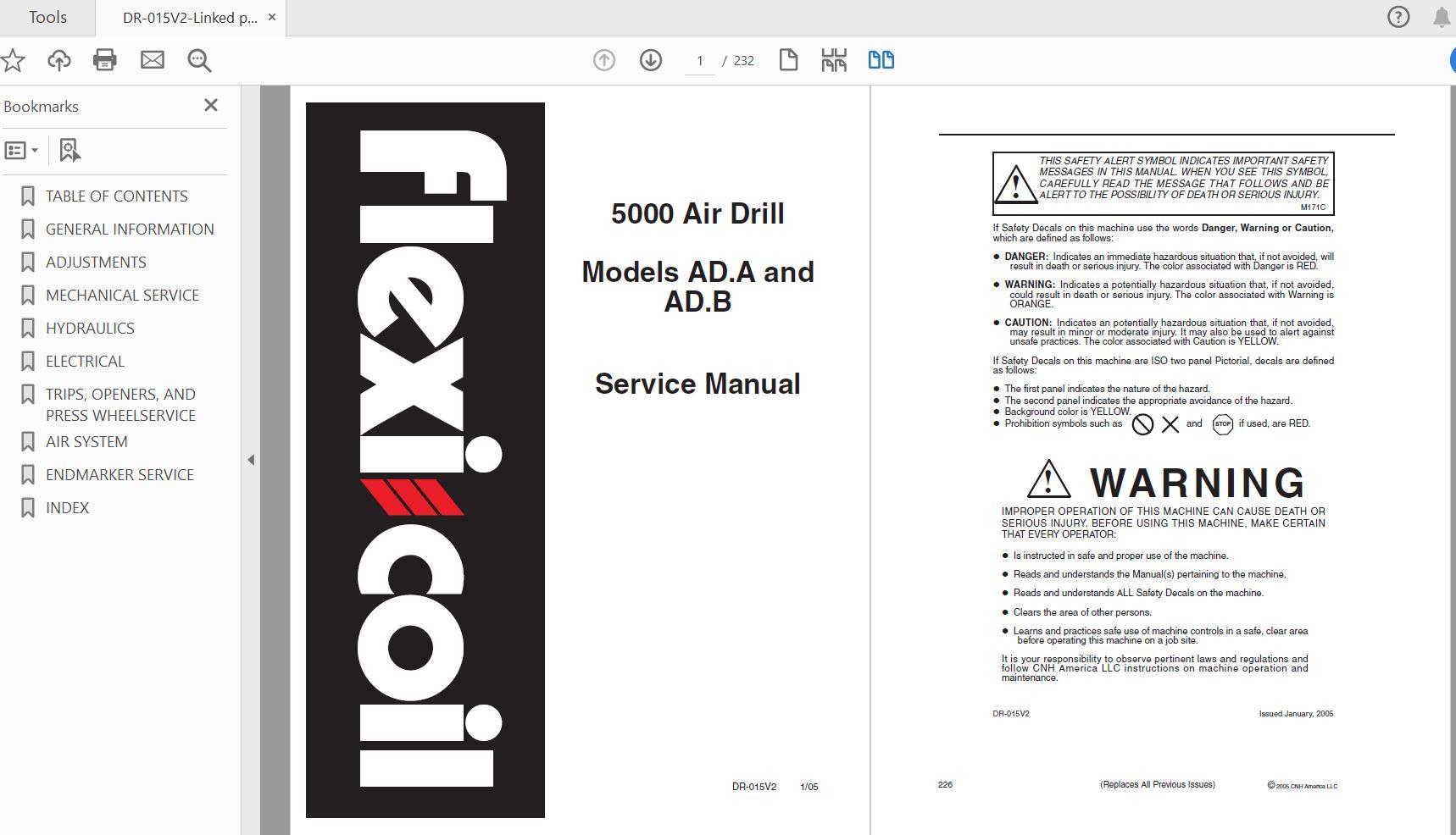 Case Tractor JX55 JX65 JX75 JX85 JX95 Repair Manual
