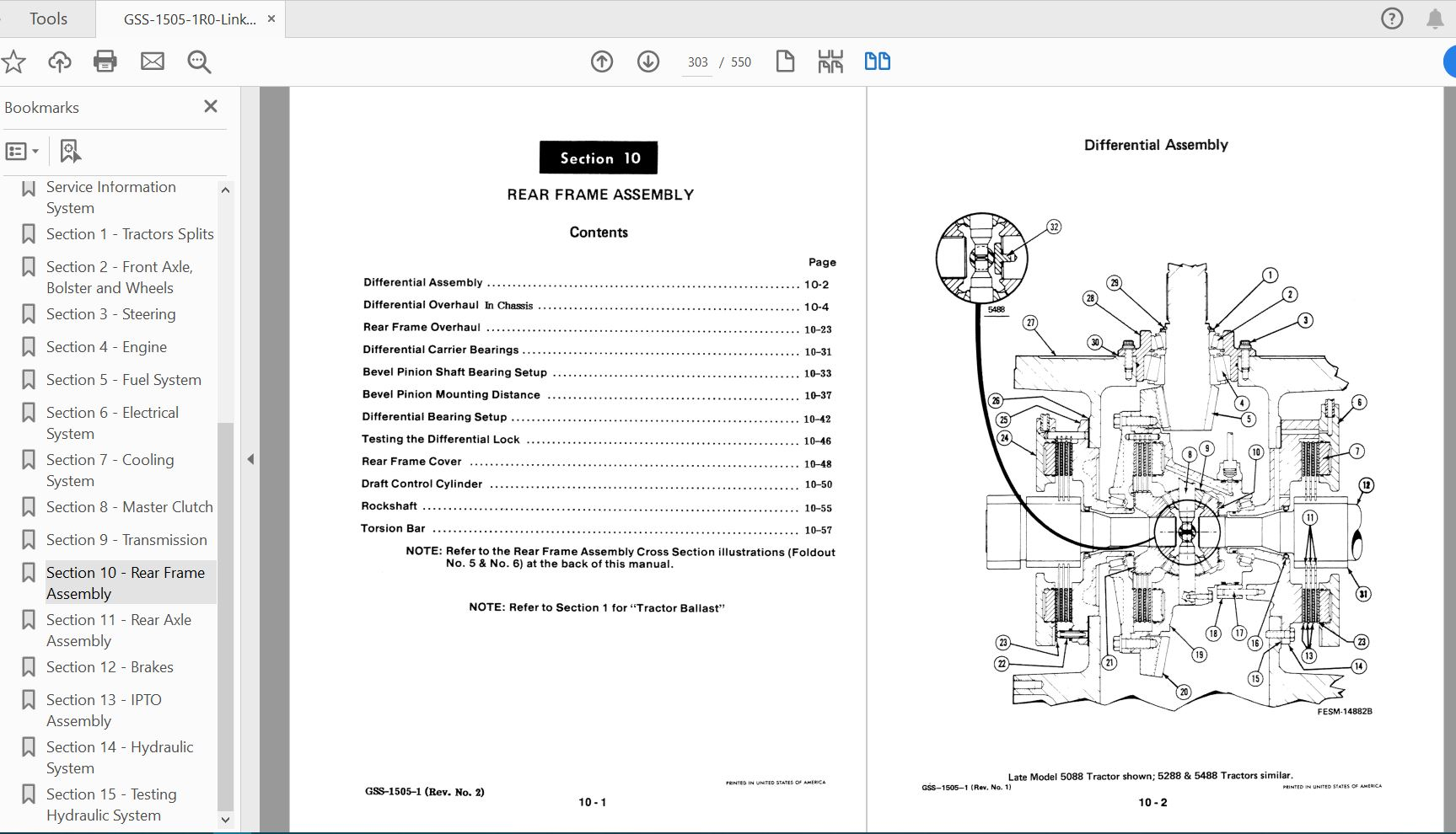 Case IH Tractor 5088,5288,5488 Service Manual_GSS-1505-1