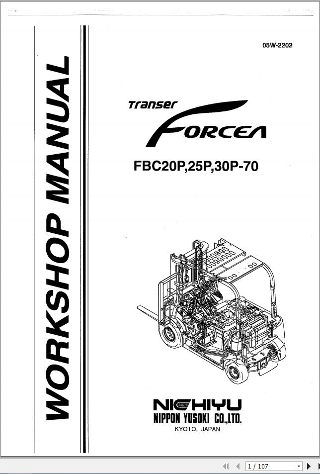 Nichiyu Forklift FBC20P,25P,30P-70 Workshop Manual_05W2202