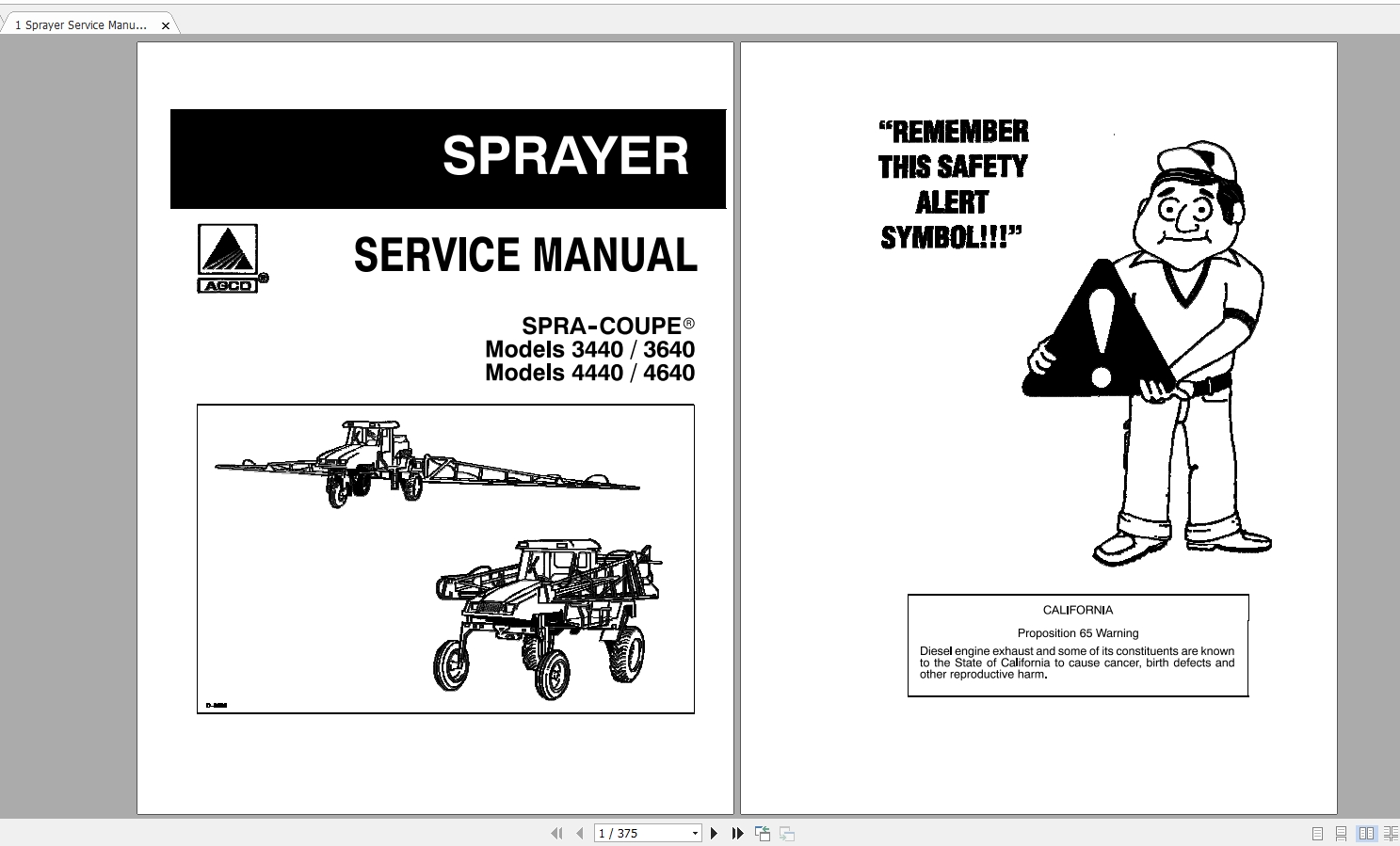 Spra Coupe (SA) AG South America Workshop Service Manuals