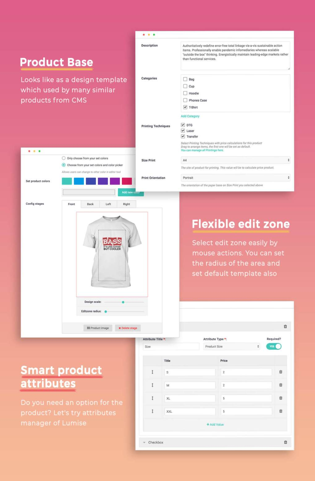 Lumise Product Designer | WooCommerce WordPress 19