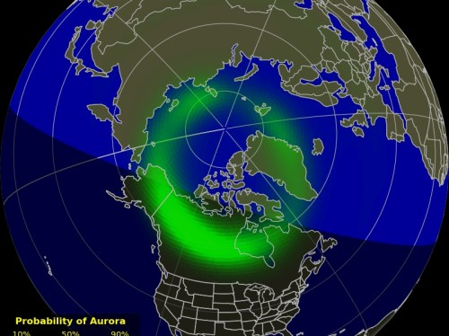 image of aurora from NOAA