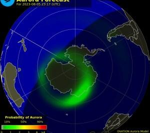 Auroras no Hemisfério Sul