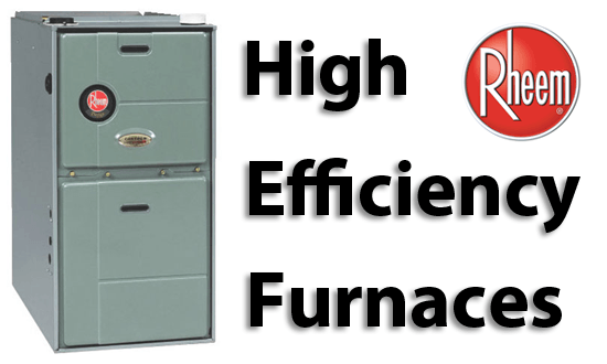 Rheem High Efficiency Furnaces in Barrie and Innisfil