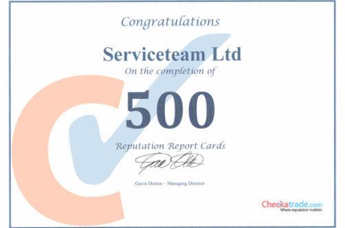 500 Reviews on Checkatrade