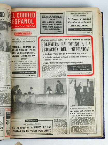 El 'Guernica' llega a España los periódicos en 1981