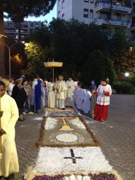 The feast of Corpus Christi - Rome, Italy