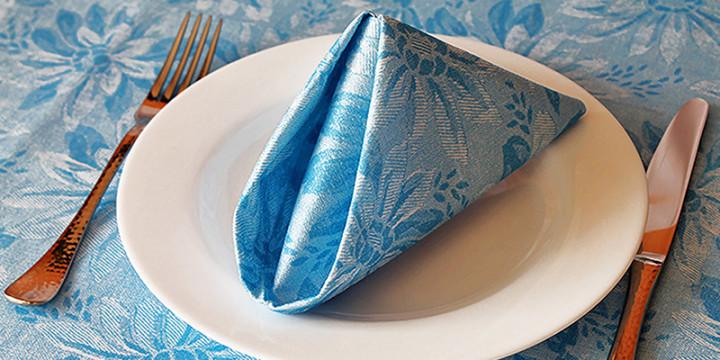 Servietten Falten Einfach Video servietten falten blaue