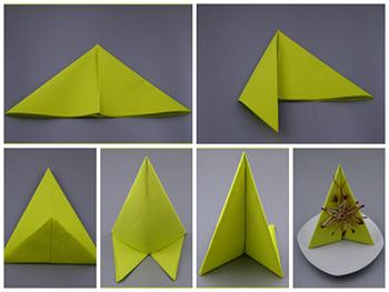 Servietten falten Anleitung mit Bildern