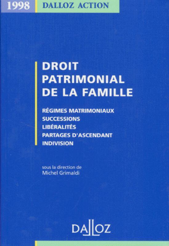 Droit Patrimonial De La Famille : droit, patrimonial, famille, Droit, Patrimonial, Famille, Michel, Grimaldi, Librairie, Eyrolles