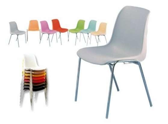 chaise coque plastique empilable