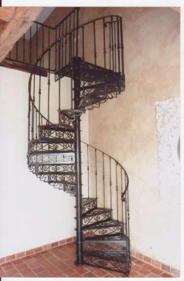 Escalier helicoidal fer forge MEUBLES  DCORATION FORG  Marseille REFERENCE MEUFORESC