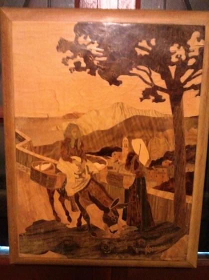 Marqueterie ROSENAU ANTIQUIT  ART  BROCANTES TABLEAUX