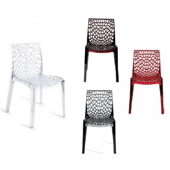 GRUVYER C  chaise en polycarbonate MEUBLES  DCORATION