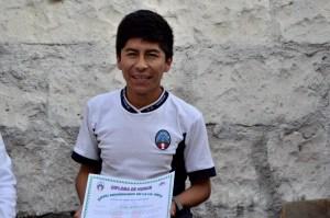 Erik with diploma
