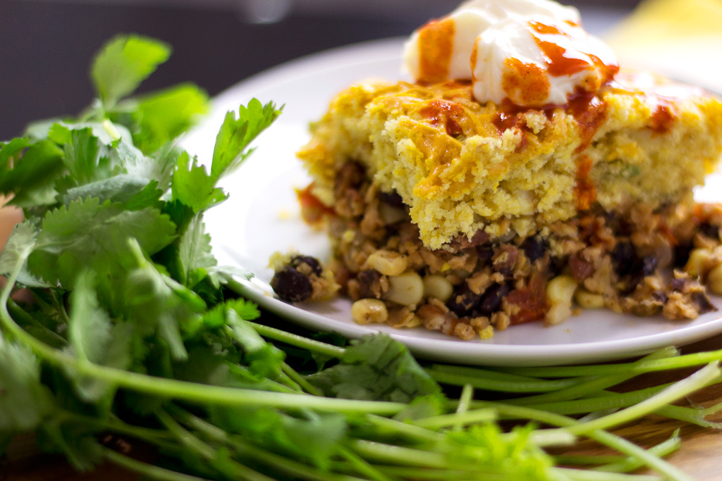 Tamale Pie Recipe with Vegan Cornbread Recipe