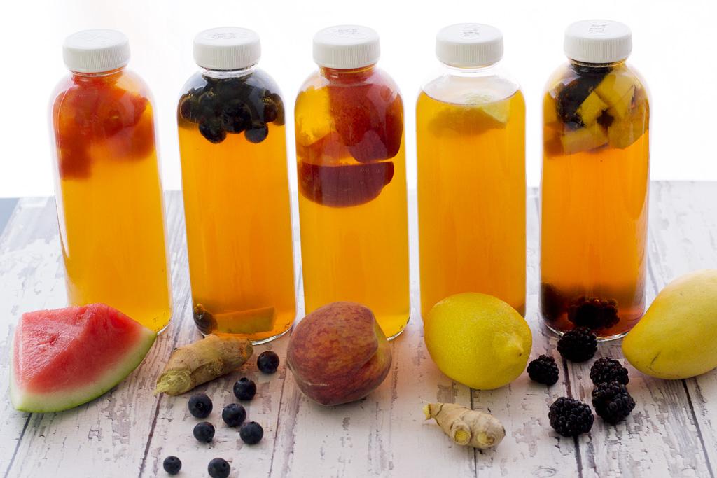 soaking fruits in kombucha