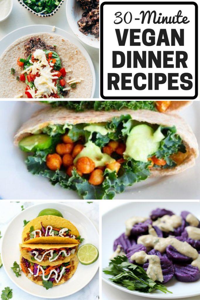 30 minute easy vegan dinner recipes