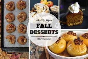 12 healthy vegan fall dessert recipes