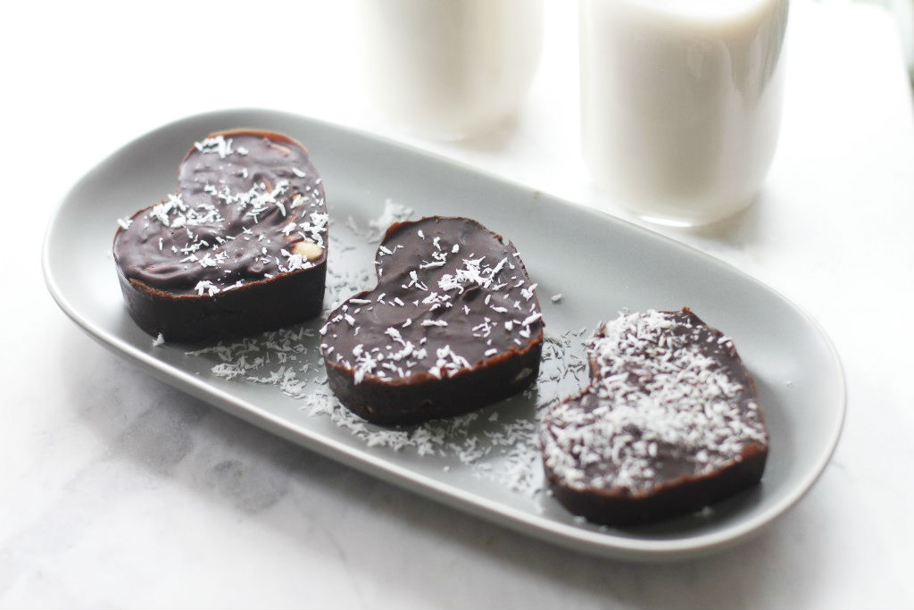 vegan chocolate hearts