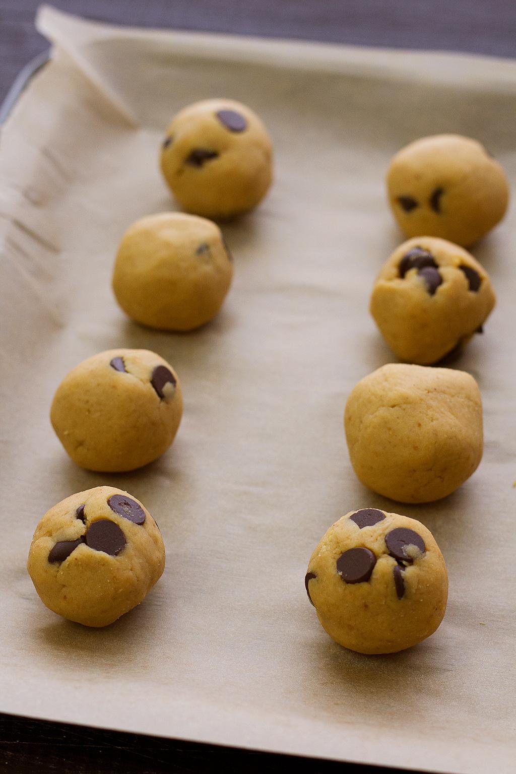 rolled vegan cookie dough bites