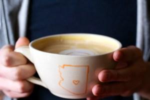 pomegranate cafe latte