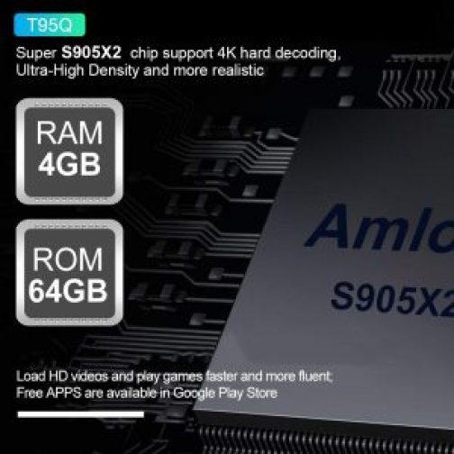 Newest T95Q Android TV box 8 1 4K Ultra HD 4GB 64GB Dual Wifi VPN + Ad  Blocker