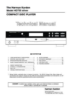 Harman Kardon HD 755 (SERVMAN9) Service Manual — View online or Download repair manual