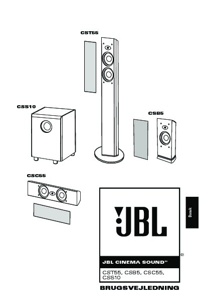 JBL CST55 User Guide / Operation Manual — View online or
