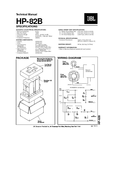 JBL HP 82B service manual — Page 2