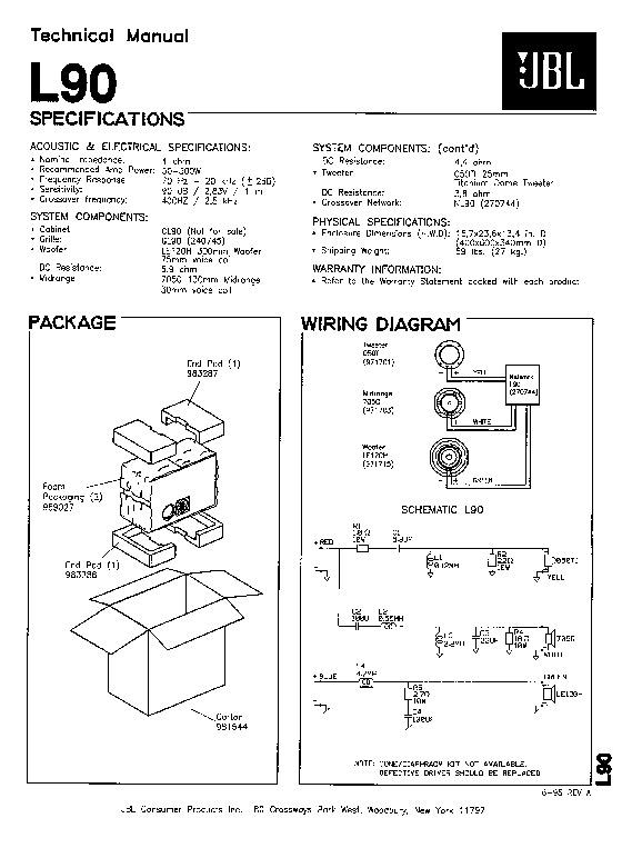 JBL L 90 Service Manual — View online or Download repair