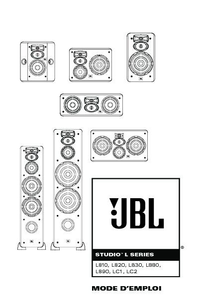 JBL LC2 (SERV.MAN7) User Guide / Operation Manual — View